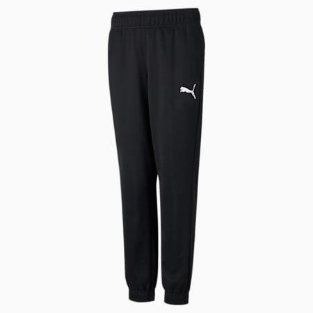 Active Tricot Youth Sweatpants, Puma Black, small-SEA