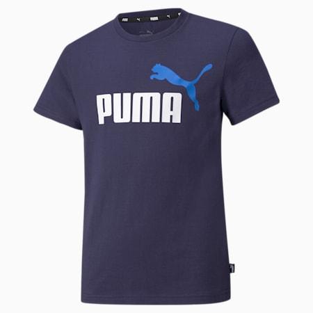 Essentials+ Two-Tone Logo Youth Tee, Peacoat-Future Blue, small-SEA