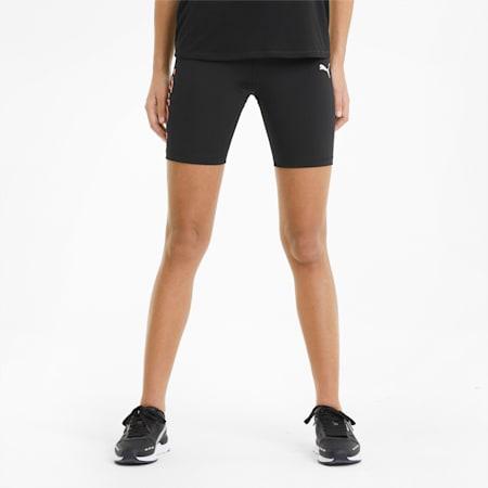 Modern Sports Women's Short Leggings, Puma Black-Georgia Peach, small