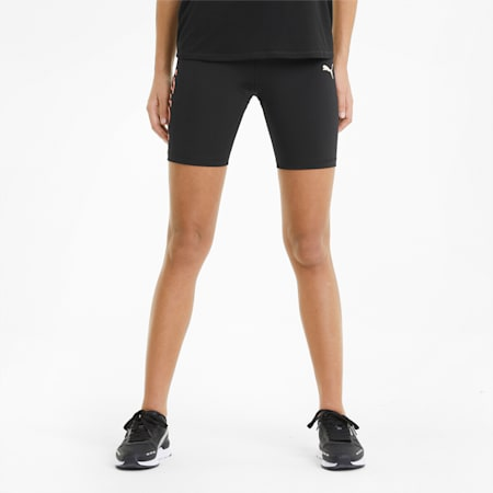 Modern Sports Women's Short Leggings, Puma Black-Georgia Peach, small-GBR
