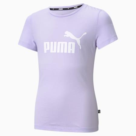 Młodzieżowy T-shirt Essentials z logo, Light Lavender, small