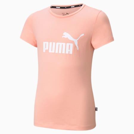 Młodzieżowy T-shirt Essentials z logo, Apricot Blush, small