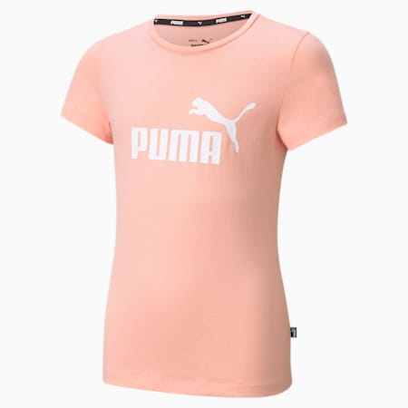 Essentials Logo Youth Tee, Apricot Blush, small