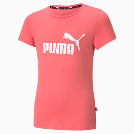 Essentials T-shirt met logo jongeren, Sun Kissed Coral, small