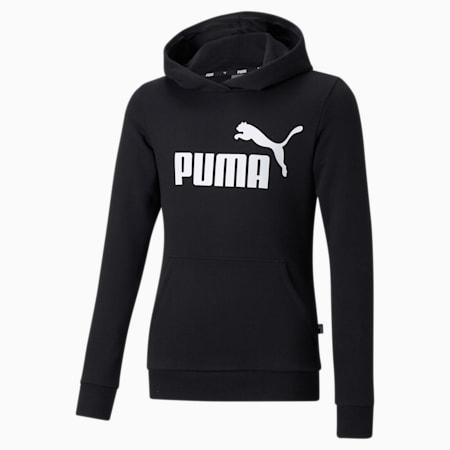 Essentials Logo Youth Hoodie, Puma Black, small-GBR