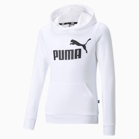 Essentials Logo Youth Hoodie, Puma White, small-GBR