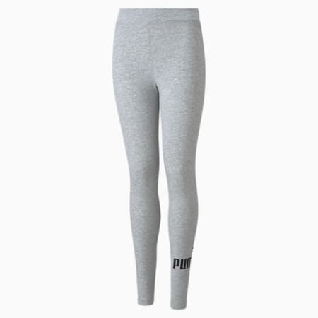 Essentials Logo Youth Leggings, Light Gray Heather, small-GBR
