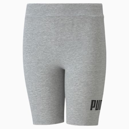 Essentials Short Youth Leggings, Light Gray Heather, small-GBR