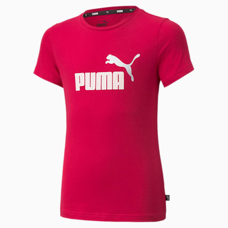 Młodzieżowy T-shirt Essentials z logo, Persian Red, small