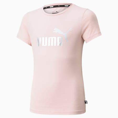 Essentials T-shirt met logo jongeren, Lotus, small