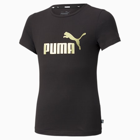 Essentials Logo Youth Tee, Puma Black-Silver, small-SEA