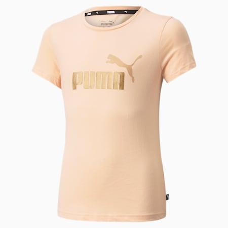 Młodzieżowy T-shirt Essentials z logo, Peach Parfait, small