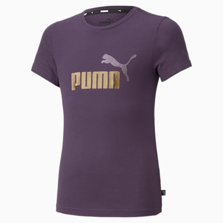 Essentials T-shirt met logo jongeren, Sweet Grape, small