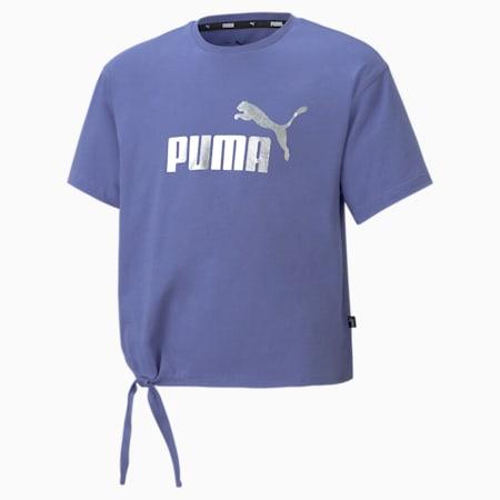 Młodzieżowy T-shirt Essentials+ Silhouette z logo, Hazy Blue, small