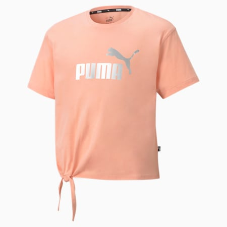 T-shirt Essentials+ Logo Silhouette enfant et adolescent, Apricot Blush, small