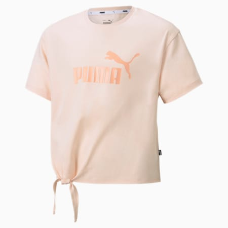 Essentials+ Logo Silhouette Youth Tee, Cloud Pink, small-SEA