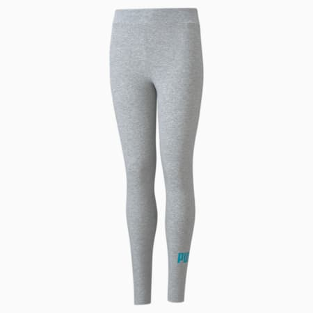Młodzieżowe legginsy Essentials+ z logo, Light Gray Heather, small