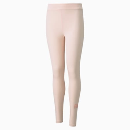 Essentials+ Logo Youth Leggings, Cloud Pink, small-GBR