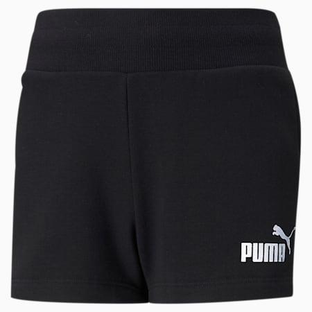 Shorts Essentials+ para niña, Puma Black, pequeño