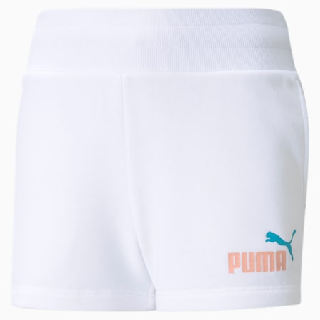 Essentials+ Youth Shorts, Puma White, small