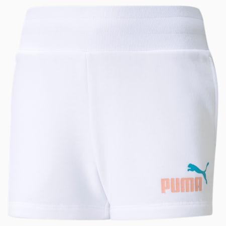 Essentials+ Youth Shorts, Puma White, small-GBR