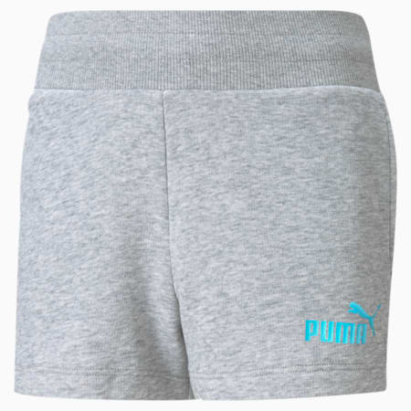 Essentials+ Jugend Shorts, Light Gray Heather, small