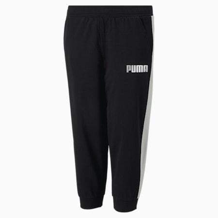 Alpha 3/4 Youth Sweatpants, Puma Black, small-SEA