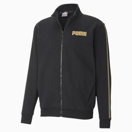 Metallic Nights Full-Zip Men's Jacket, Cotton Black, small-SEA