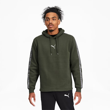 Metallic Nights Men's Hoodie, Thyme, small