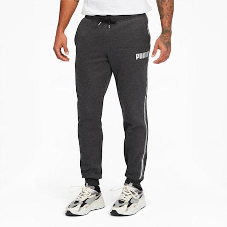 Metallic Nights Men's Tape Sweatpants, Dark Gray Heather, small