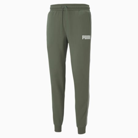 Metallic Nights Men's Tape Sweatpants, Thyme, small