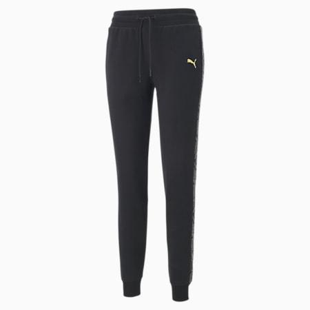 Metallic Nights Women's Sweatpants, Cotton Black, small-SEA