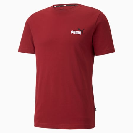 Essentials Embroidery Logo Men's Tee, Intense Red, small-SEA