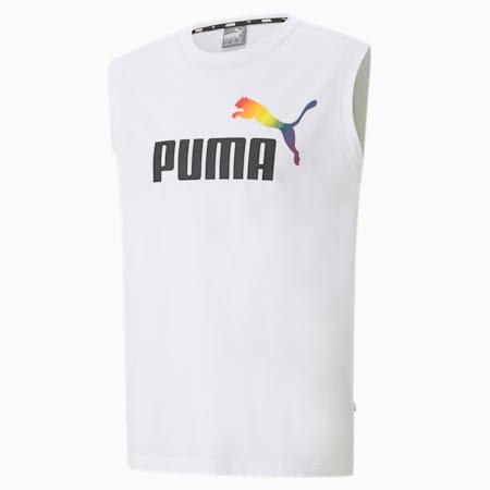 T-Shirt sans manche Pride pour homme, Puma White, small