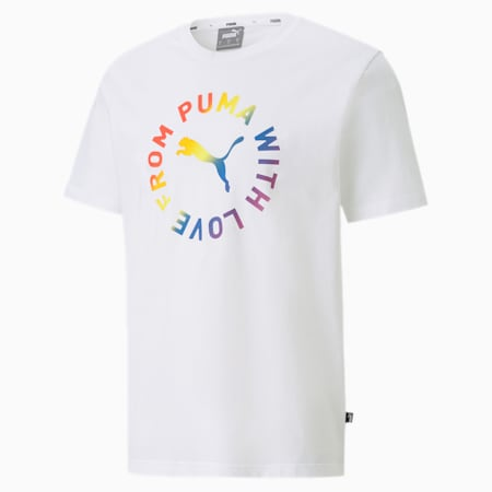 Pride Graphic Tee, Puma White, small