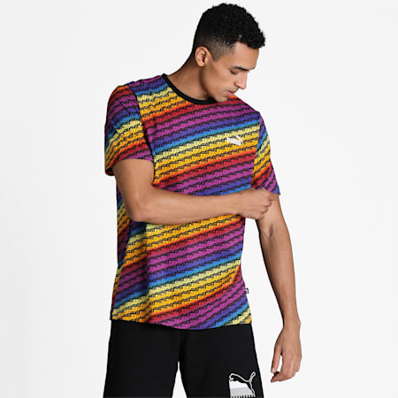 Pride All-Over Printed Men's Tee, Puma White-multi AOP, small