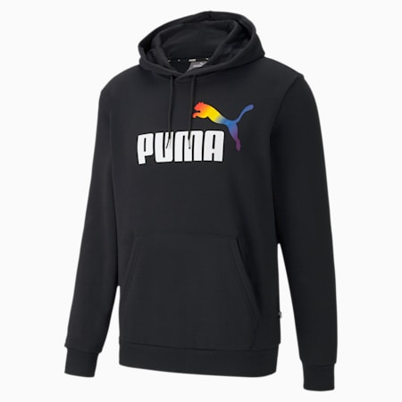 Sudadera con capucha para hombre Pride Graphic, Puma Black, small