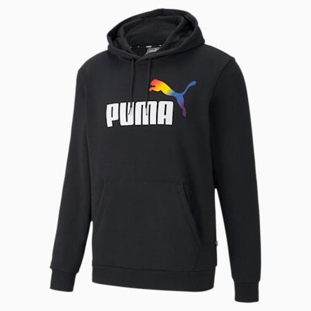 Pride Graphic Men's Hoodie, Puma Black, small-SEA