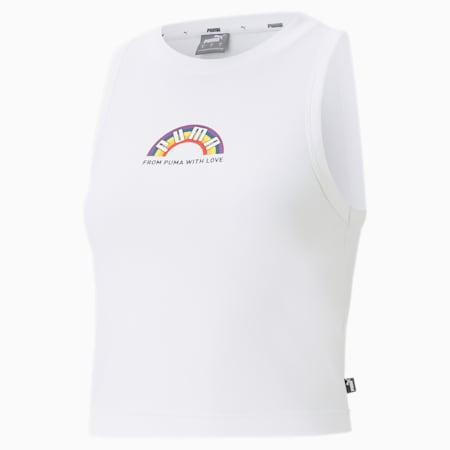 Pride Damen Tank-Top, Puma White, small
