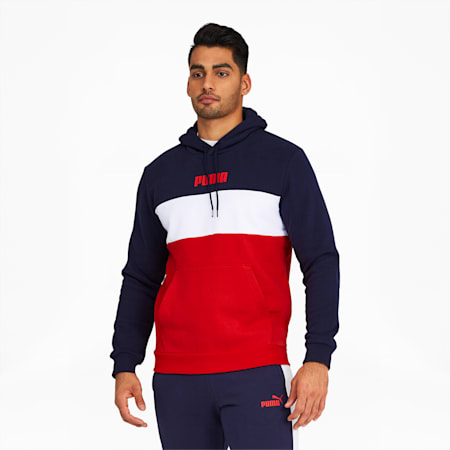 PUMA Block Men's Hoodie, Peacoat, small
