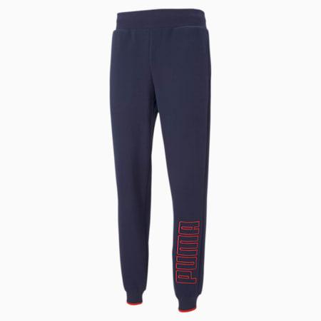 PUMA Block Men's Embroidered Sweatpants, Peacoat, small