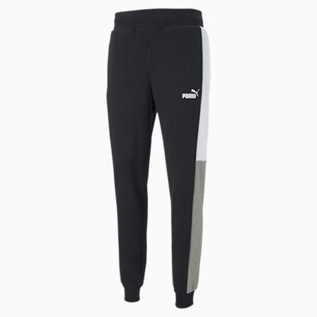 PUMA Block Men's Sweatpants, Cotton Black, small
