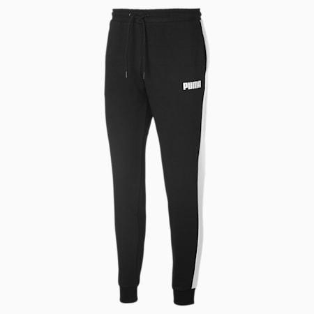 Knitted Men's Sweatpants, Puma Black, small
