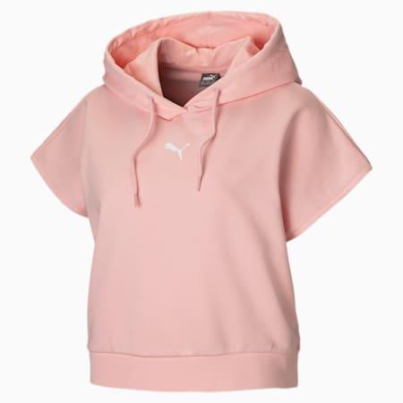 Short Sleeve Women's Hoodie, Crystal Rose, small