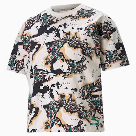 RE.GEN Damen T-Shirt mit All-over-Print, no color, small