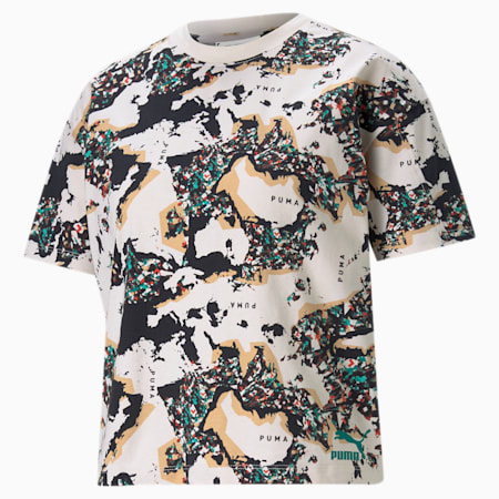 RE.GEN Printed Women's Relaxed T-shirt, no color, small-IND