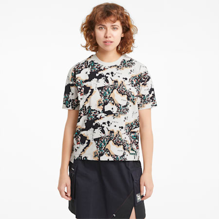 Damski T-shirt RE.GEN z nadrukiem, no color, small