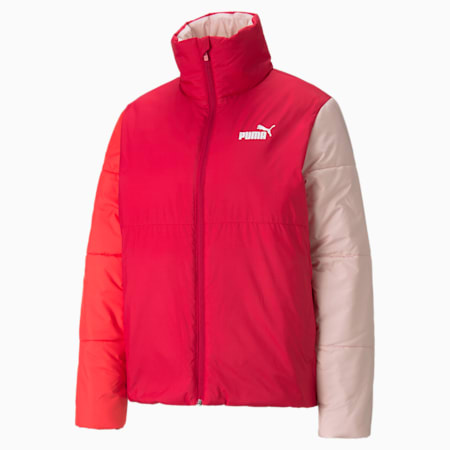 Essentials+ Padded Women's Jacket, Persian Red, small