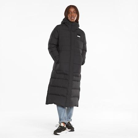 Long Oversized Down Women's Jacket, Puma Black, small-GBR