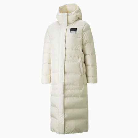 Long Oversized Down Women's Jacket, Ivory Glow, small-GBR